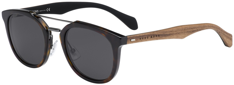 Boss By Hugo Boss Sunnies 077/S Havana, Grey Lenses