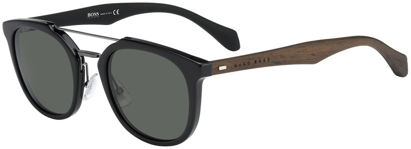 Boss By Hugo Boss Sunnies 077/S Black, Grey Green Lenses