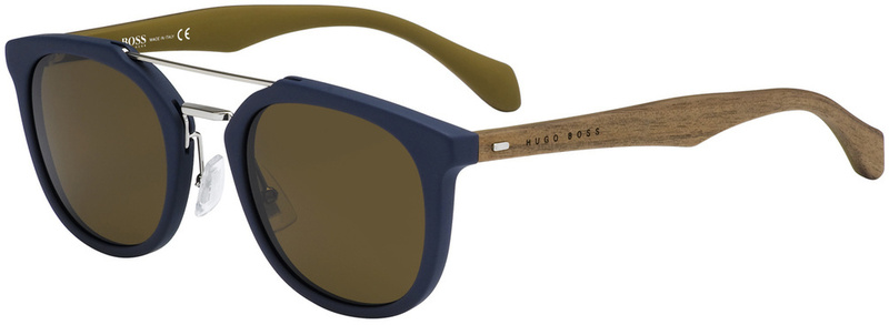 Boss By Hugo Boss Sunnies 0777/S Blue and Brown, Brown Lenses