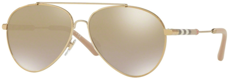 Burberry BE3092Q Light Gold, Light Brown Gold Gradient Mirror
