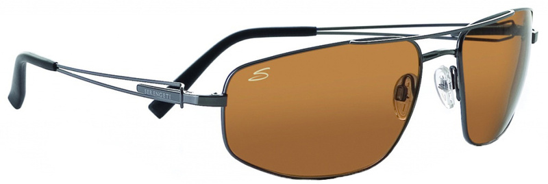 Serengeti Sunglasses Augusto Shiny Gunmetal & Satin Gunmetal, Driver Polarised Lenses