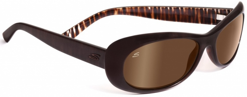 Serengeti Sunglasses Bella Bronze Zebra with Drivers Gold Polarised Lenses
