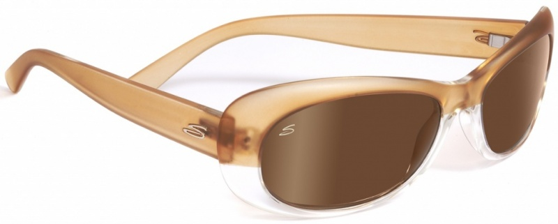 Serengeti Bella Satin Champagne Sunglasses, Drivers Gold Polarised Lenses