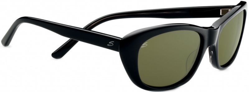 Serengeti Bagheria Sunglasses Black Grey Tort with 555nm Polarised Lenses