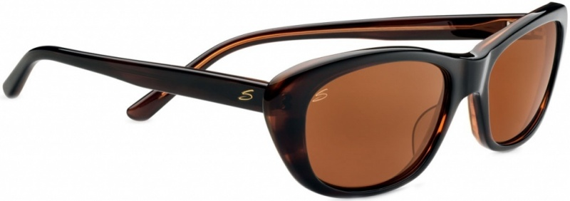 Serengeti Sunglasses Bagheria Dark Tort Honey with Drivers Polarised Lenses