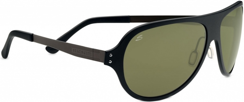 Serengeti Alice Sunglasses Satin Black with Pol PhD 555nm Lenses