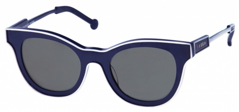 Preen Sunglasses Bromley Navy Ivory Grey