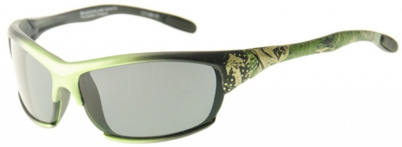 Black and Green Design/Grey Lenses
