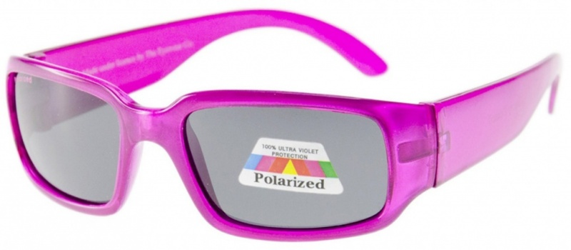 Bright Pink/Grey Polarised Lenses