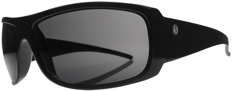 Electric Charge XL Gloss Black Sunglasses with Grey Polarised Lenses