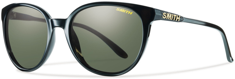 Smith Cheetah Sunglasses Black with Gray Green Polarised Lenses