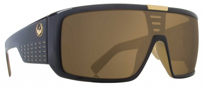 Dragon Domo Jet Gold with Grey Lenses