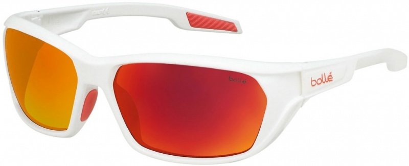 Bolle Sunglasses Ecrins Shiny White with TNS Fire Lenses