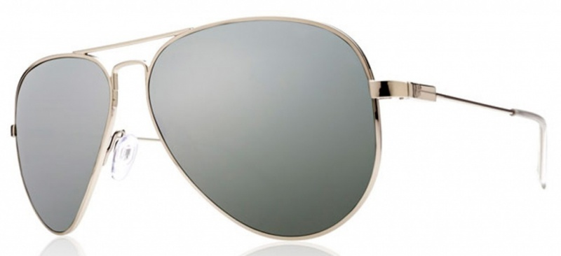Electric AV1 Sunglasses Large Silver with Silver Chrome Lenses