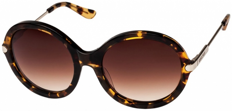Oroton Florine Sunglasses Tort, Smokey Brown Grad