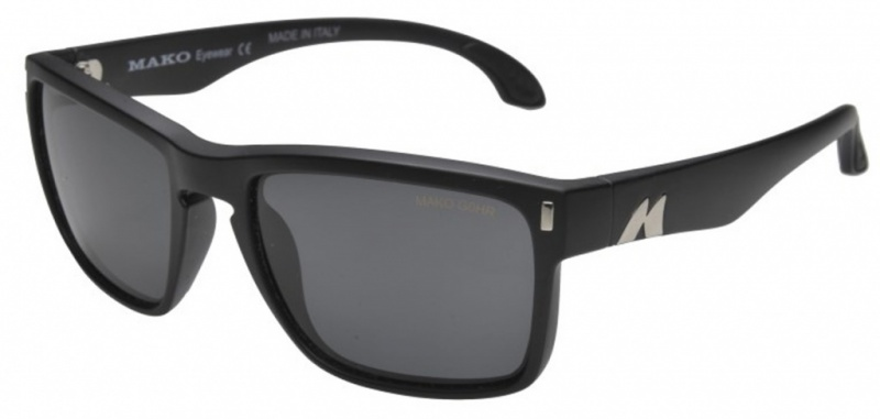 Mako GT Matte Black with Glass Grey Lenses