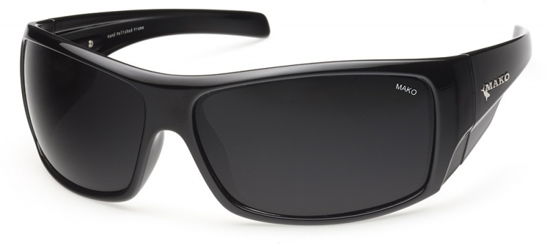 Mako Indestructible Matte Black with PC Grey Lenses