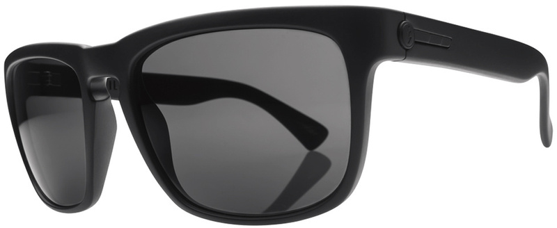 Electric Matte Black with Grey Lenses Mens Sunglasses