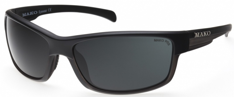 Mako Shadow Matte Black Grey Tort with PC Grey Lenses
