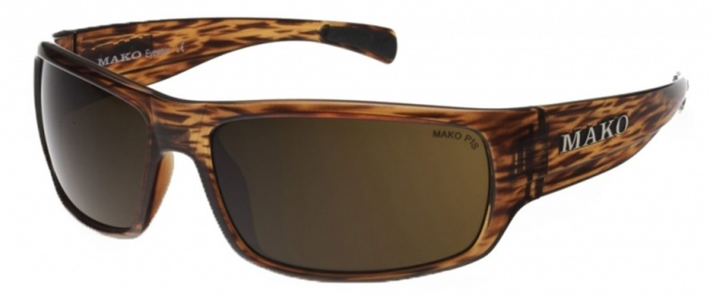 Mako Escape Brown Tort Stripe with Brown PC Lenses