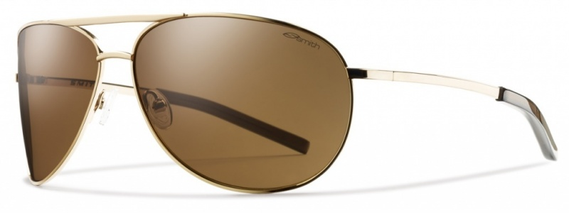Smith Optics Serpico Sunglasses Gold with Polarised Brown lenses