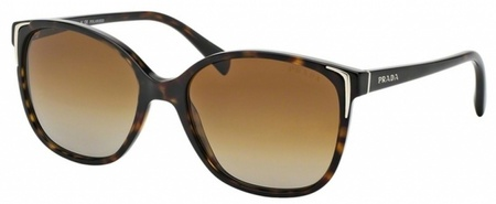 Prada PR 01OS  Havana with Brown Gradient Polar Lenses