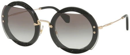 Miu Miu Sunglasses 06SS Black, Grey Gradient Lenses