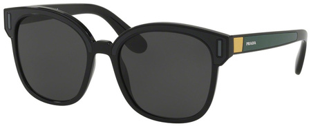 Prada PR05US Sunnies Black, Grey, Yellow, Grey Lenses
