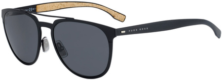 Boss By Hugo Boss 0882/S Matte Black, Grey Blue Lenses