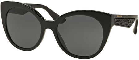Miu Miu Sunglasses 07RS Black, Grey Lenses