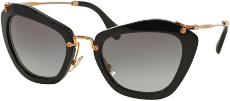 Miu Miu Sunglasses 10NS Black, Grey Gradient Lenses
