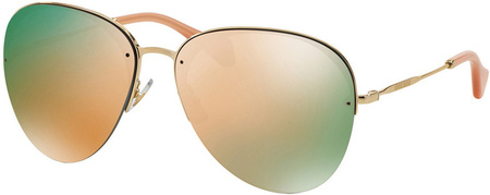 Miu Miu Sunglasses 52PS Gold, Rose Gold and Green Mirror