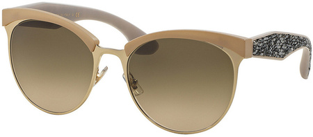 Miu Miu Sunglasses 54QS Ivory and Gold, Brown Gradient Lenses