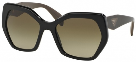 Prada PR 16RSF Sunglasses Black, Brown Gradient Lenses