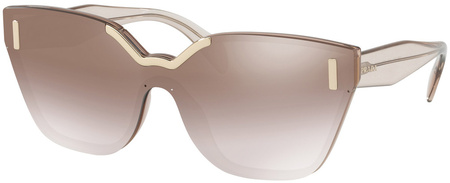 Prada PR 16TS Sunglasses Light Brown, Brown Silver Mirror
