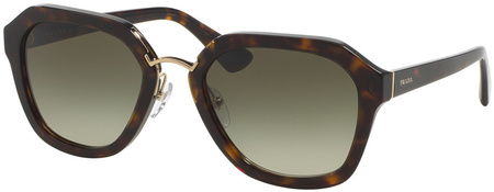 Prada PR 25RS Sunglasses Havana, Green Gradient Lenses