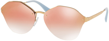 Prada PR 64TS Sunglasses Antique Gold, Pink Grey Mirror