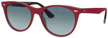 Red on Transparent Grey/Blue Grey Gradient Lenses 52 Eye Size