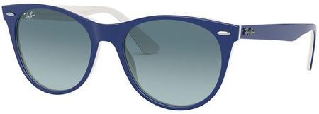 Blue on White/Blue Grey Gradient Lenses
