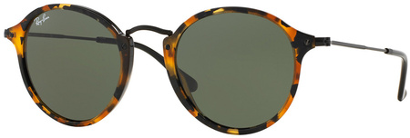 Ray Ban 2447 Sunglasses Spotted Black Havana, Green Glass Lenses