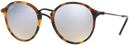 Ray Ban 2447 Sunglasses Spotted Blk Havana, Grey Flash Mirror