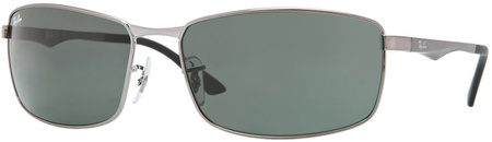 Ray Ban 3498 Sunglasses Gunmetal, Green Lenses