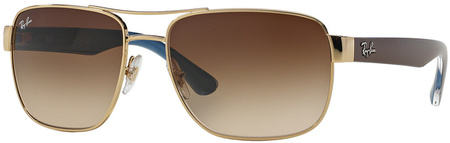 Ray Ban 3530 Sunglasses Gold, Brown Gradient Lenses