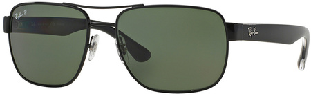 Ray Ban 3530 Sunglasses Black, Green Polarised Lenses