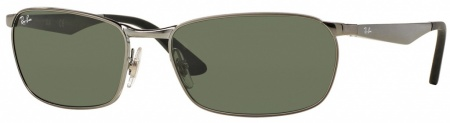Ray Ban 3534 Sunglasses Gunmetal, Green Polarised