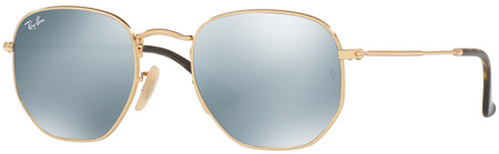Gold/Grey Flash Mirror Lenses 54 Eye Size