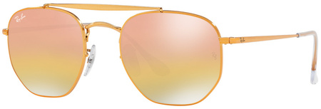 Ray Ban 3648 Sunglasses Gold Copper, Pink Gradient Mirror