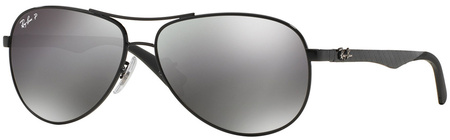 Black/Grey Mirror Polarised Lenses 61 Eye Size