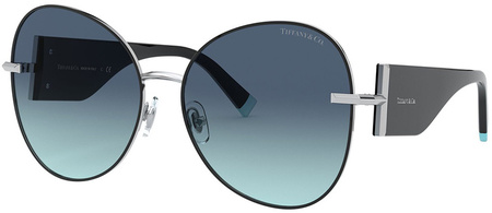 Silver and Black/Azure Blue Gradient Lenses