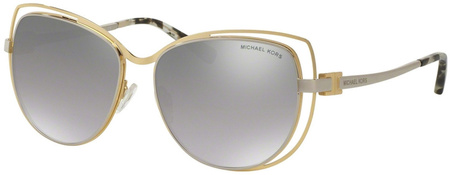 Michael Kors Audrina I Sunglasses Gold and Silver, Silver Mirror